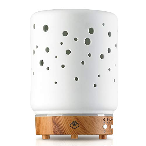 Starlight White 90mm - Ceramic/Light Wood Base Diffuser
