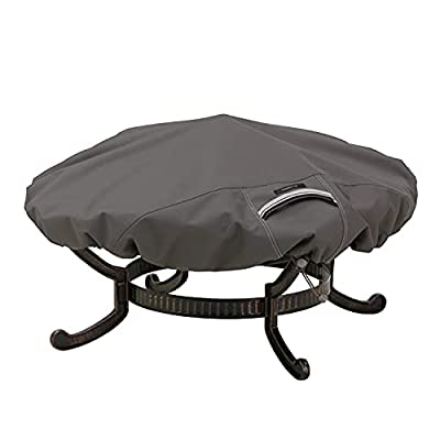 Classic Accessories Ravenna Round Fire Pit Cover, Taupe