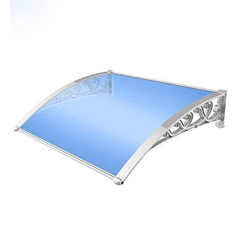 HLR Vordach Überdachung Haustürvordach Aluminium Markise Markise, erhältlich in Einer Vielzahl von Größen, blau Polycarbonat Haustür (Size : 60cm*80cm)