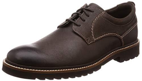Rockport Marshall Plain Toe, Zapatos de Cordones Oxford para Hombre, Marrón, 44.5 EU