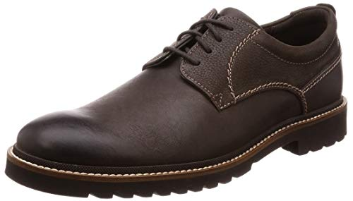 Rockport Marshall Plain Toe, Zapatos de Cordones Oxford para Hombre, Marrón, 44.5 EU