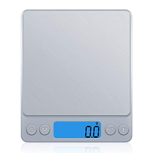 DZSF Digitale keukenweegschaal Mini Pocket RVS Precisie Sieraden Elektronische Balans Gewicht Goud Grams(3000Gx0.1G)