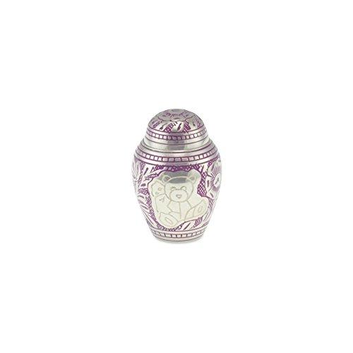 Cherished Urns Porth Teddy Bär Messing Kind Andenken/Miniatur Urne in lila