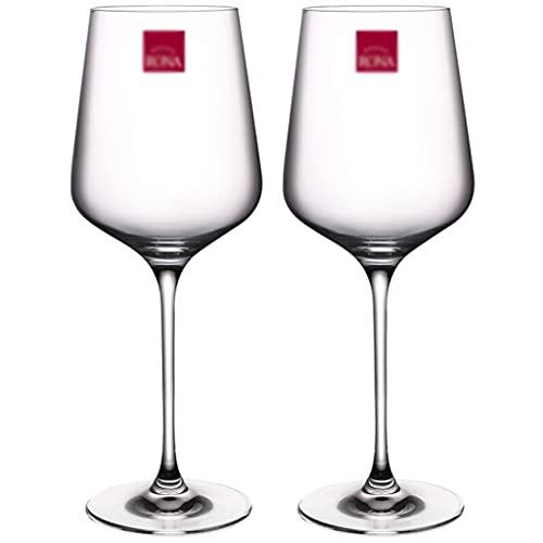QIAOLI Copas de Vino Conjunto de 2 Copas de Vino soplado a Mano - Copas de Vino de Tallo Largo para degustación de vinos, Boda, Aniversario, Navidad (Color : 650ml*2)