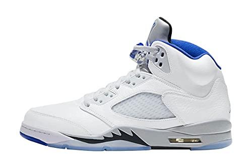 Nike Hombres Air Jordan 5 Retro Slam Jam Stealth 2.0 - DD0587 140 - Blanco Hyper Royal