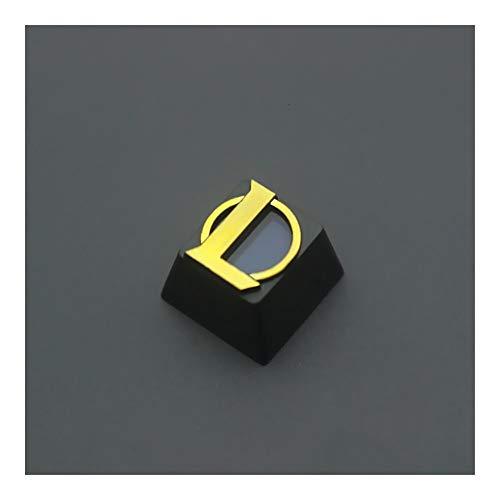 YEZIO Keycaps für Keyboards 1 Pc verzinktes Durchlässiger Aluminiumlegierung Key-Kappe for LOL Mechanische Tastatur Stereoscopic Pad Backlit Keycap R4 Höhe Universal
