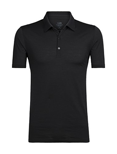 Icebreaker Tech Lite SS Polo Polo Homme Black FR : L (Taille Fabricant : L)
