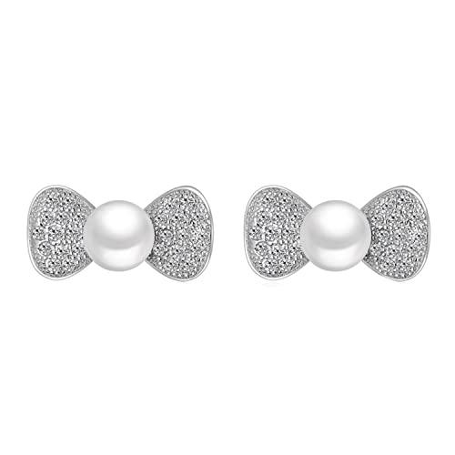 Orecchini a perno con perle di arco per le donne, Rame,