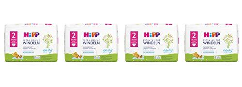 HiPP Babysanft Windeln Mini Größe 2 im 2-Wochen-Pack (124 Windeln)