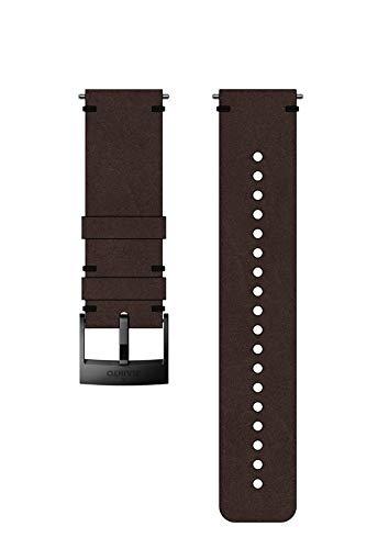 Suunto, Bracelet de remplacement Original pour Toutes les Montres Suunto Spartan Sport WRH et Suunto 9, Cuir, Longueur : 22,7 cm, Largeur : 24 mm, Brun/Noir, Broches de fixation incluses, SS050232000