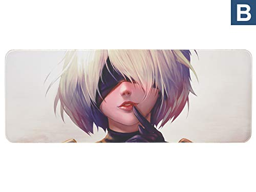 CoolChange Großes NieR Automata Gaming Mauspad, XXL Manga Tischauflage, Yorha Motiv B