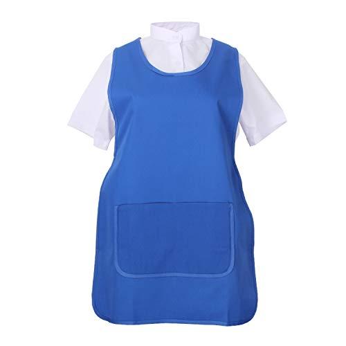 MISEMIYA - Delantal Limpieza Uniforme Laboral CLINICA MÉDICOS Limpieza Veterinaria Sanitarios HOSTELERÍA- Ref.868 - M, Azul