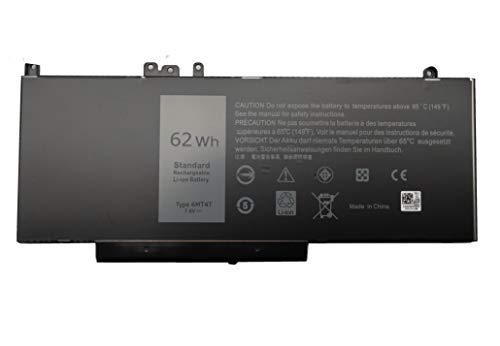 PowerZJS 6MT4T Laptop Battery for Dell Latitude 14 E5470 Latitude 3150 Latitude 3160 Latitude E5250 Latitude E5450 Latitude E5550 7V69Y TXF9M 79VRK 07V69Y 451-BBUQ [7.6V 62Wh]