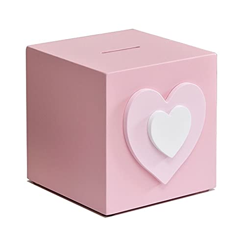 MaxDal Hucha para niña de gran capacidad, color rosa, tamaño: 12 x 13 x 12 cm