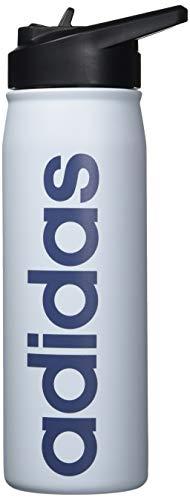 adidas 18/8 Stainless Steel Straw Top Metal Water Bottle, Blue/Halo Blue/Tech Ink/ Black, 600 ml (20 oz)