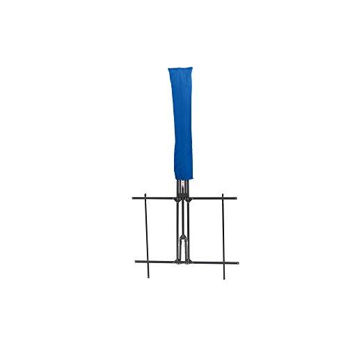 Siena Garden Balkonschirm Twinsoll, L 220 x B 150cm, Gestell: Stahl, pulverbeschichtet in anthrazit, Bezug: Polyester, 180g/m² in blau, Lichtschutzfaktor: UPF 50+
