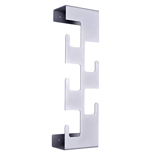 semuUp | Perchero de pared vertical de metal | 5 ganchos | Disponible en negro, blanco, gris (gris)