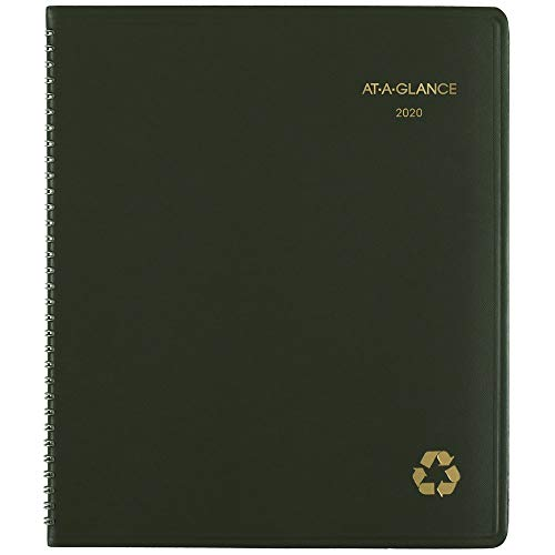 AT-A-GLANCE 2020-2021 - Agenda mensile 2020 Old Edition 9 inches X 11 inches Verde