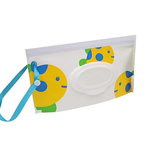 2020 Nuevo Eco-Friendly Baby Wet Wipes Bag Snap Strap Toallitas Contenedor Clamshell Cosmético Bolsa Embrague Limpieza Toallitas Estuche