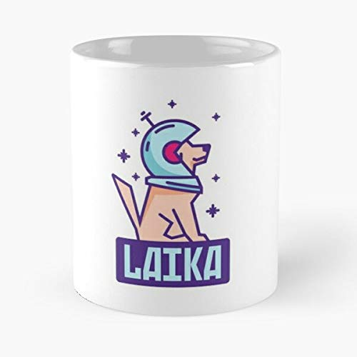 Spacedog Laika Classic Mug - Ceramic Coffee White (11 Ounce) Tea Cup Nursing Appreciation Gifts For Nurse Practitioner-hinpeste