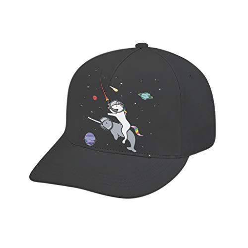 Baseball Caps NASA Unicorn Herren Druck Retro Ball Mütze für Wandern White OneSize