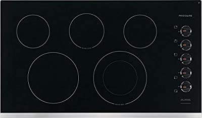 Frigidaire FFEC3625US 36 Inch Electric Smoothtop Style Cooktop with 5 Elements in Stainless Steel