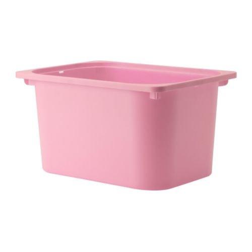 Ikea Trofast - Caja de almacenaje (42 x 30 x 23 cm, plástico), Color Rosa