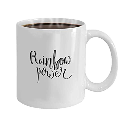Unicornio Rainbow Power Cup Taza Con Estrellas Brillantes Y Divertidas B