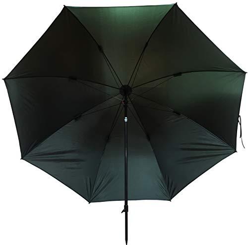 FLADEN Fishing - Umbrella 2.2m Round Tilting Waterproof Dark Green Fishing Brolly with Adjustable Height [25-124]