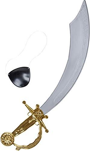 Piraten-Messer+Augenklappe