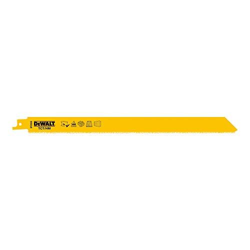 Dewalt Spezial-Säbelsägeblatt DT2333 (228mm Gesamtlänge, Zahnteilung: 2 mm, HM-staubbestückt - zum Schneiden von Leichtbeton, Ziegelsteinen, abrasiven Materialien, Keramik, Fiberglas), 2 Stück