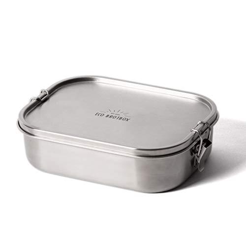 ECO Brotbox | Bento Flex+ | auslaufsichere Edelstahl Lunchbox mit flexiblem Trennsteg | 1300 ml