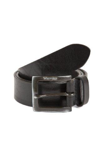 Wrangler Jeans Leder Gürtel Kabelbuckle schwarz