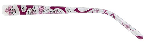 Wechselbügel ChangeMe! Premium Bügel 8234-3 130 (1 Paar Brillenbügel, Farbe aubergine / perlmutt blumig)