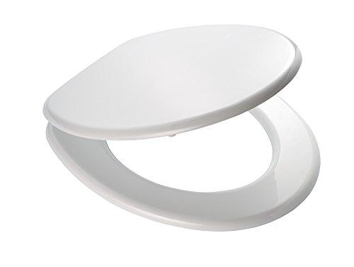 RIDDER 02001101 Toilet Seat Seattle, White, Blanc, 43,6 x 35,8 x 5,9 cm