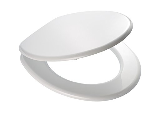 Ridder 02001101 Toilet Seat Seattle, White, Blanc, 43,6 x 35,8 x 5,9 cm