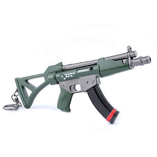 mankecheng Juegos Metal MP5 Submachine Gun Modelo Acción Figura Arte Juguetes Colección Llavero Regalo