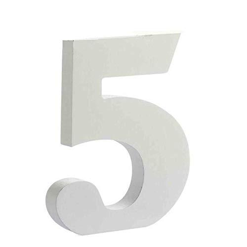 Letras y n/úmeros de madera alfabeto para decoraci/ón 15cm S