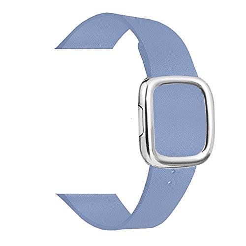 Correa de bucle de cuero de estilo moderno para Apple Watch Series 5 4 3 2 bandas pulsera para IWatch 38/40/42 / 44mm accesorios de correa de reloj