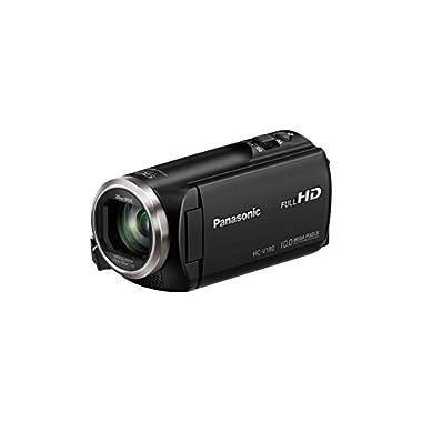 Panasonic HC-V180K Full HD Camcorder 50x Stabilized Optical Zoom (Black)