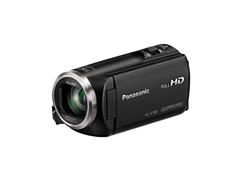 Panasonic Full HD Video Camera Camcorder HC-V180K, 50X Optical Zoom, 1/5.8-Inch BSI Sensor, Touch...