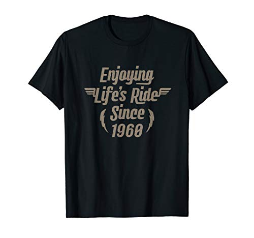 Gift for 60 Year Old: Motorcycle Rider 1960 60th Birthday T-Shirt