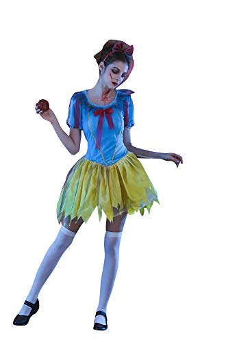 thematys Horror Espeluznante Blancanieves - Set de Disfraces para Damas Halloween y Carnaval - 4 tamaños Diferentes (L)
