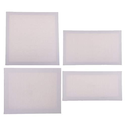 B Baosity Panneaux Vierges Blancs De Panneau De Toile 4pcs, 100% Coton pour La Peinture Acrylique, La Peinture à L' Et Les Médias d'art Humides, Toiles Pou