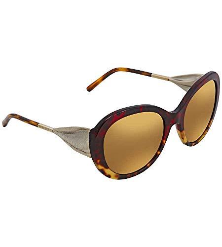 Burberry 0BE4191 36646H 57 Gafas de sol, Rojo (Red Havana/Light Havana/Brownmirrorgold), Mujer