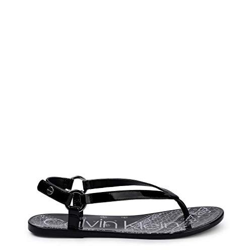 Clavin Klein Julissa - Sandalias para Mujer, diseño de Bandana, Color Negro, Liso y Flexible, Color Negro, Talla 39 EU