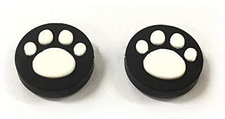 2 agarres de silicona antideslizantes para el pulgar para Nintendo Switch Poke Ball Plus Pokeball NS controlador gato perro pata (Color 3)