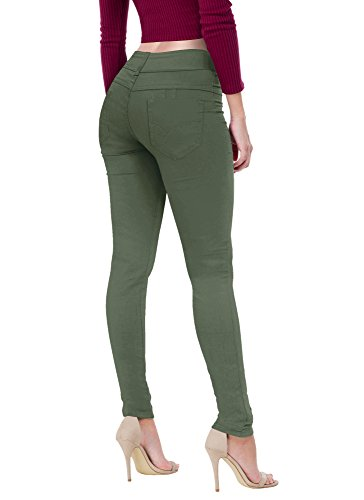 Women's Butt Lift V2 Super Comfy Stretch Denim Jeans P43637SK Olive 9