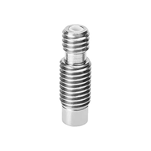 POHOVE Ender 3 Heatbreak Throat for E3D-V6 3D-Drucker V6 Heat Break All Metal Thermal Barrel Feeder Tube V6 Heatbreak Throat for 1.75mm Stainless Steel Düsen Throat for 3D Printer