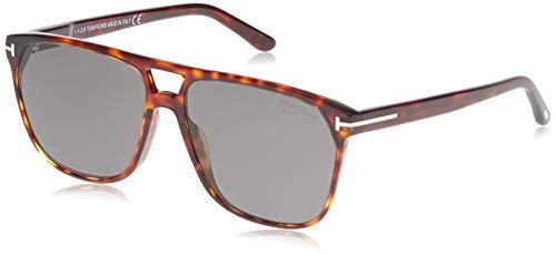 Tom Ford FT0679 Havana/Smoke Lens Solid Polarized Sunglasses